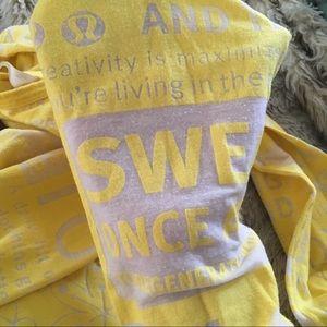 lululemon athletica Tops - LULULEMON yellow Manifesto long sleeve shirt